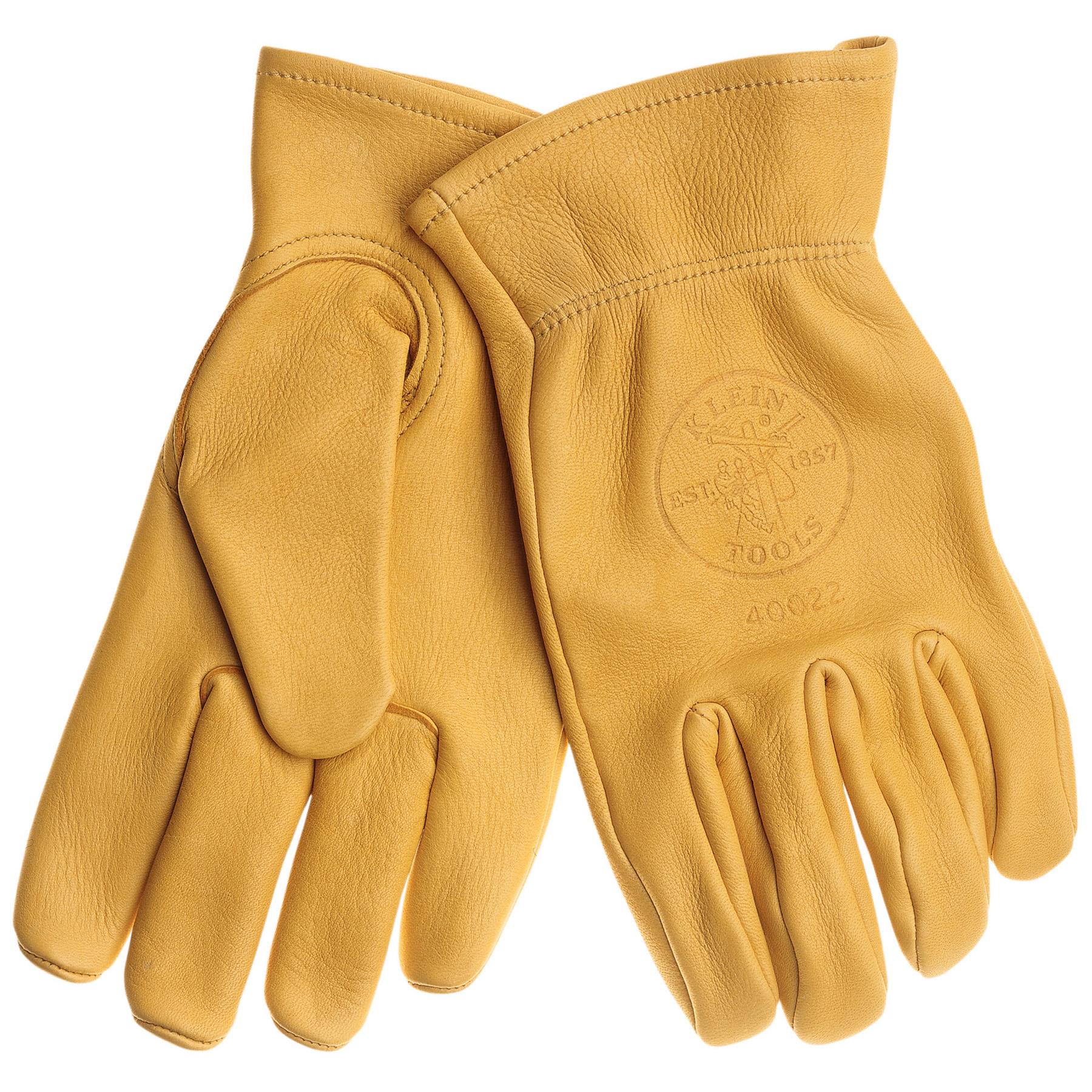 Cowhide work gloves xl 40023 klein tools for - Guantes de obra ...