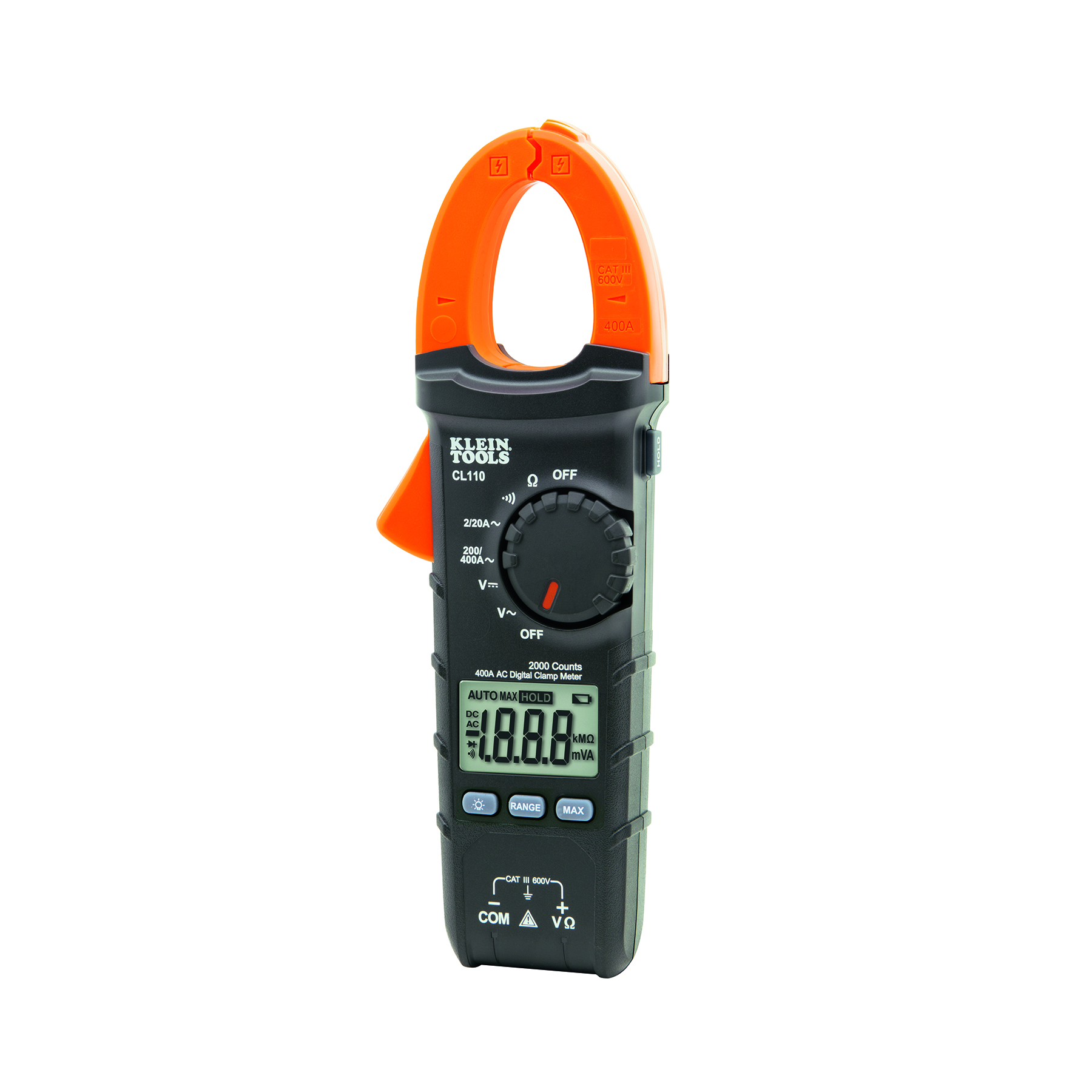 Digital Clamp Meter Ac Auto Ranging 400 Amp Cl110 Klein Tools Lcd Multimeter Dc Voltmeter Ammeter Ohm Circuit Checker Images