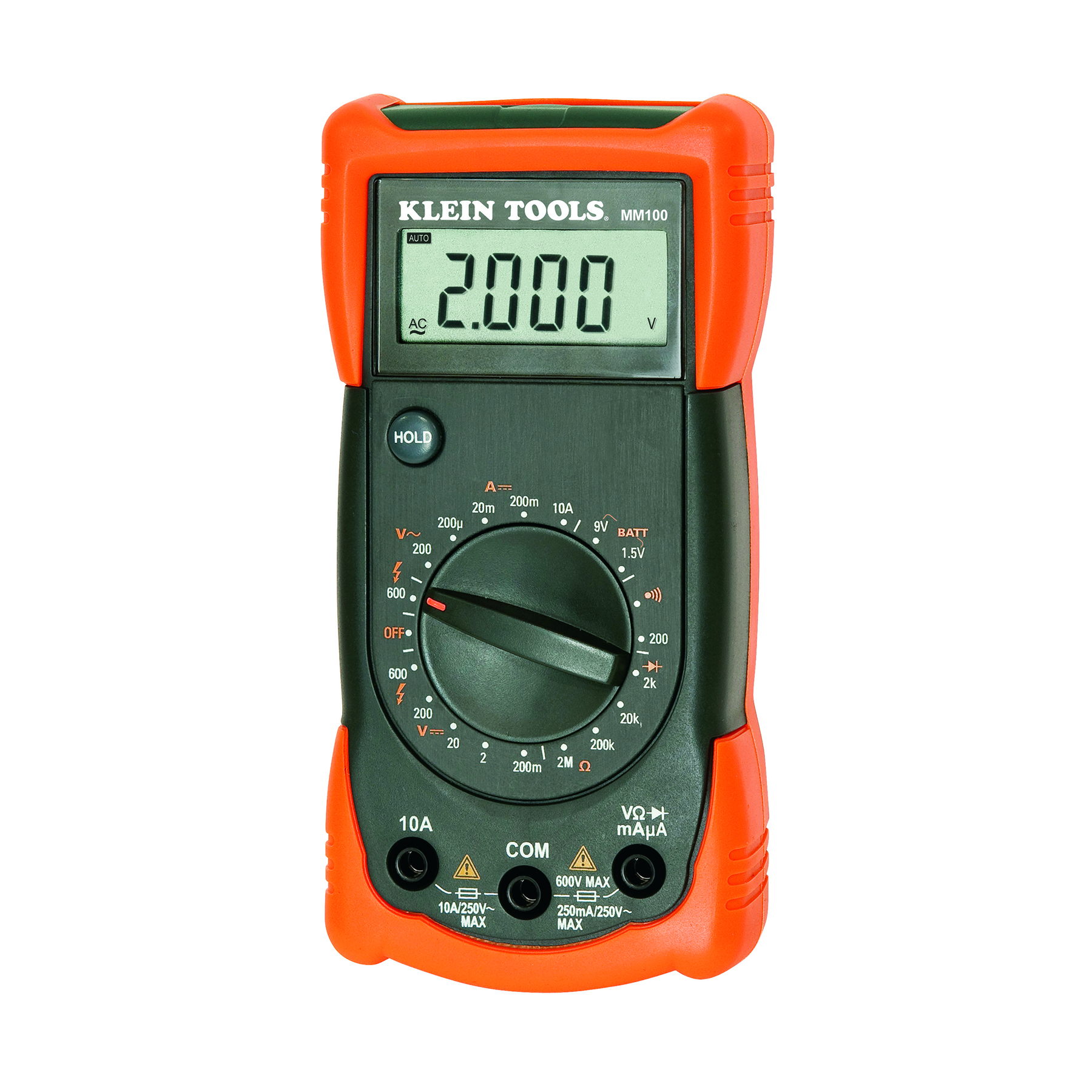 Manual Ranging Multimeter - MM100   Klein Tools - For Professionals ...